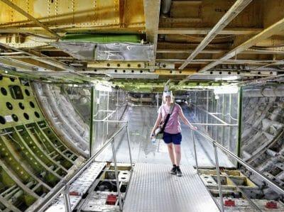 Frachtraum der Boing 747 im Technikmuseum in Speyer