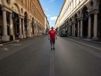 Unterwegs in Turin Italien