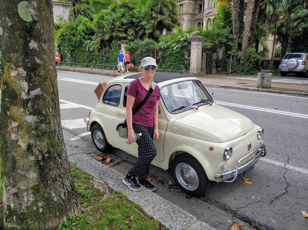 alter Fiat 500 in Stresa am Lago Maggiore in Italien