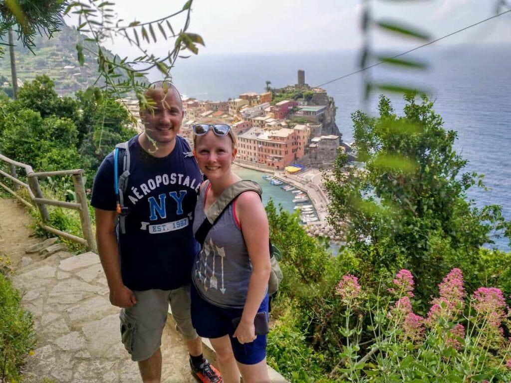 Blick auf Vernazza im Cinque Terre Italien