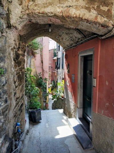 Unterwegs in Corniglia in Italien