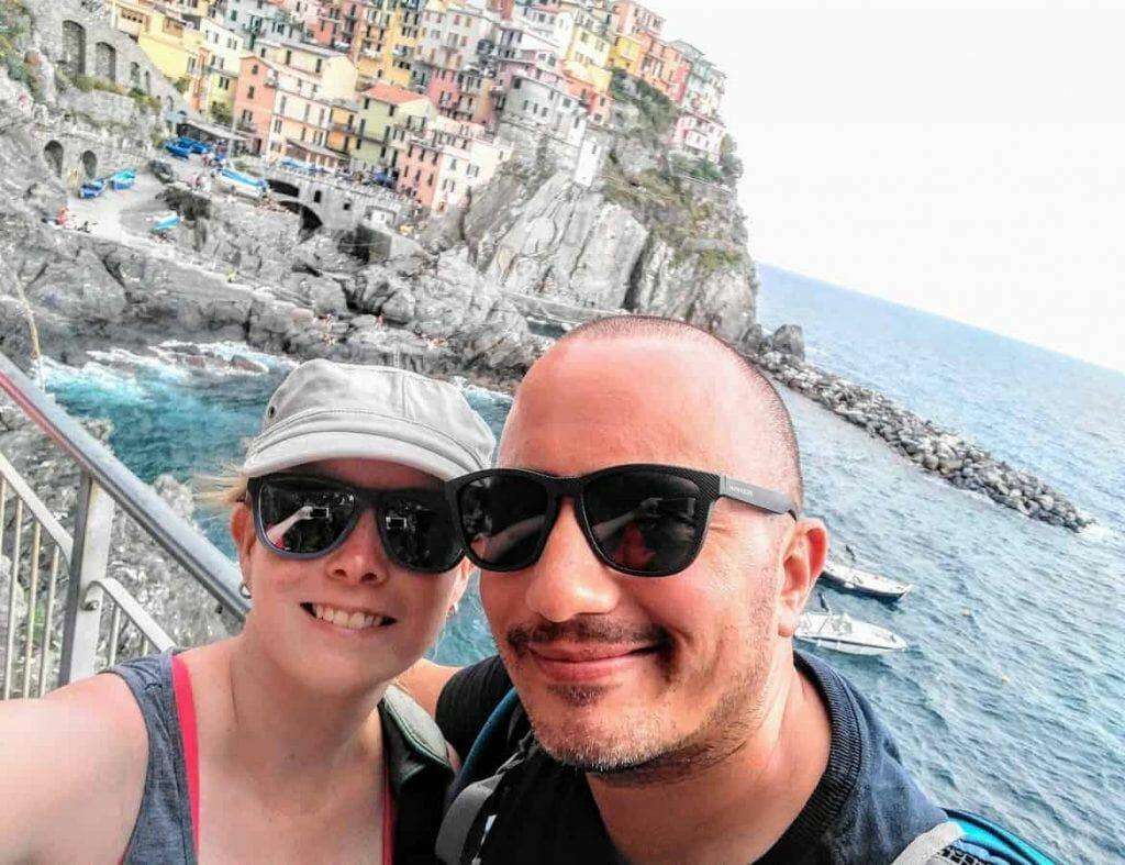 Blick auf Manarola im Cinque Terre in Italien