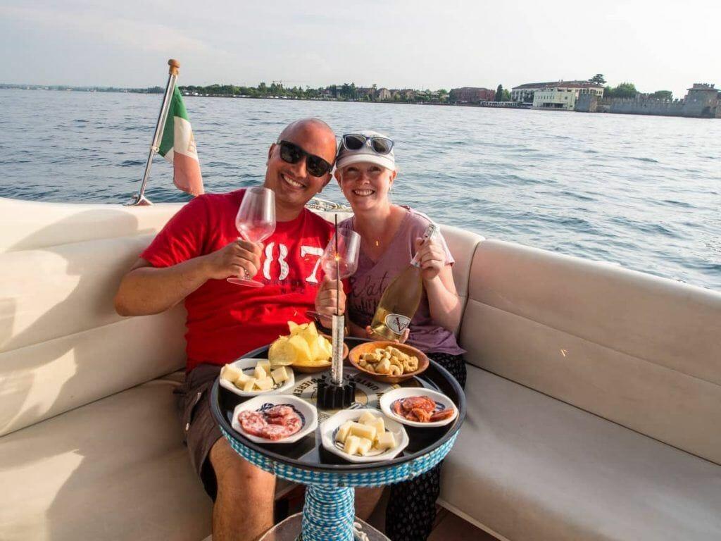 Selfie Gardasee Sirmione Italien