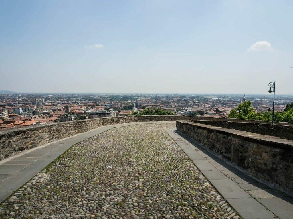 Stadtmauer in Bergamo Italien