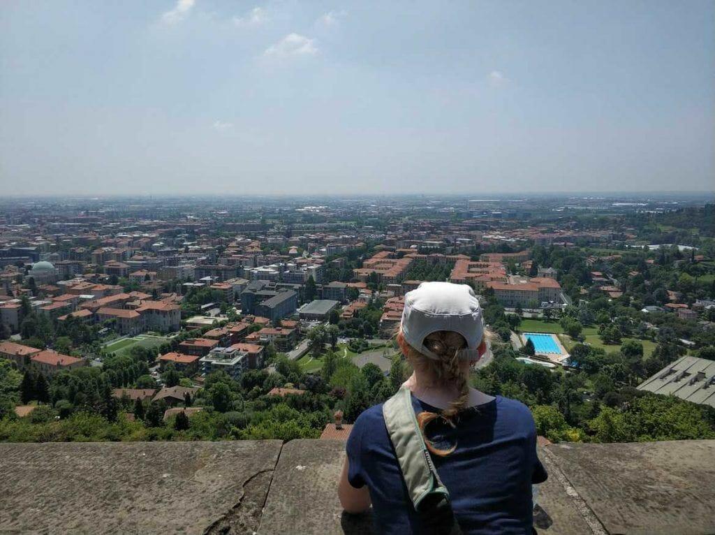 Blick über Bergamo Italien