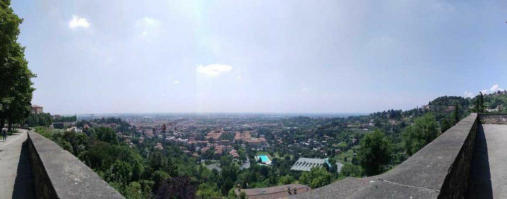 Panorama Blick über Bergamo Italien