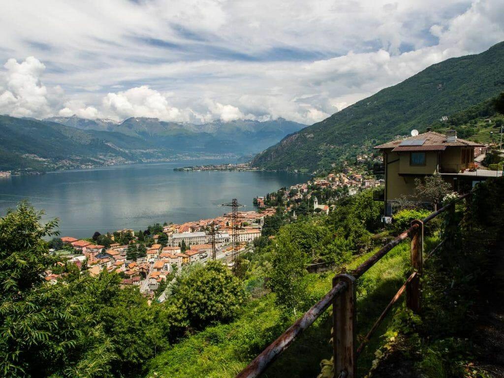 Blick auf Lago di Como Italien