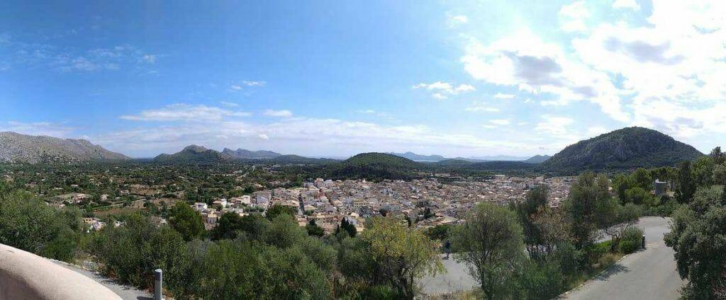 Panorama über Pollenca Mallorca