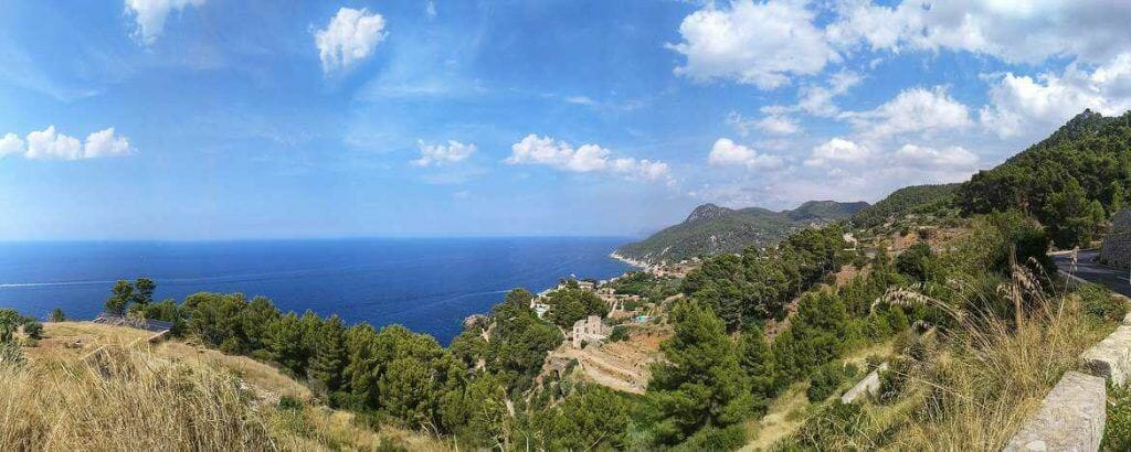 Panorama an Mallorcas Westküste