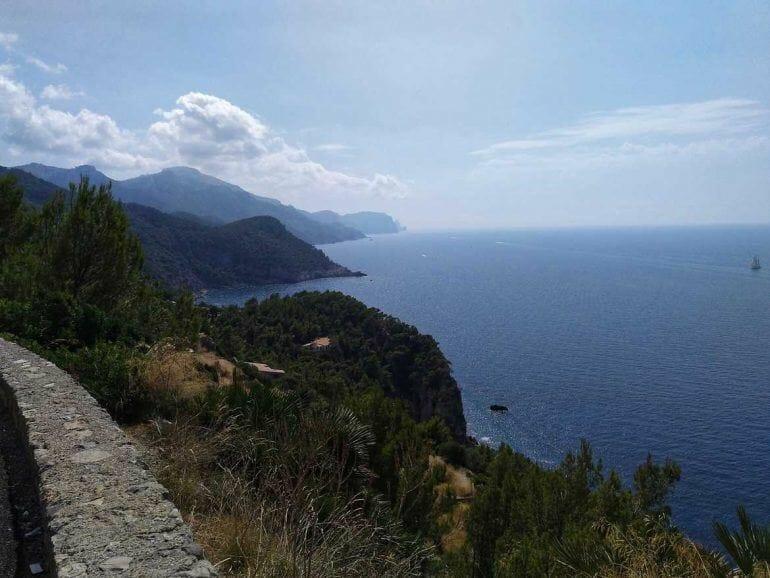 Aussicht an Mallorcas Westküste auf Mallorca