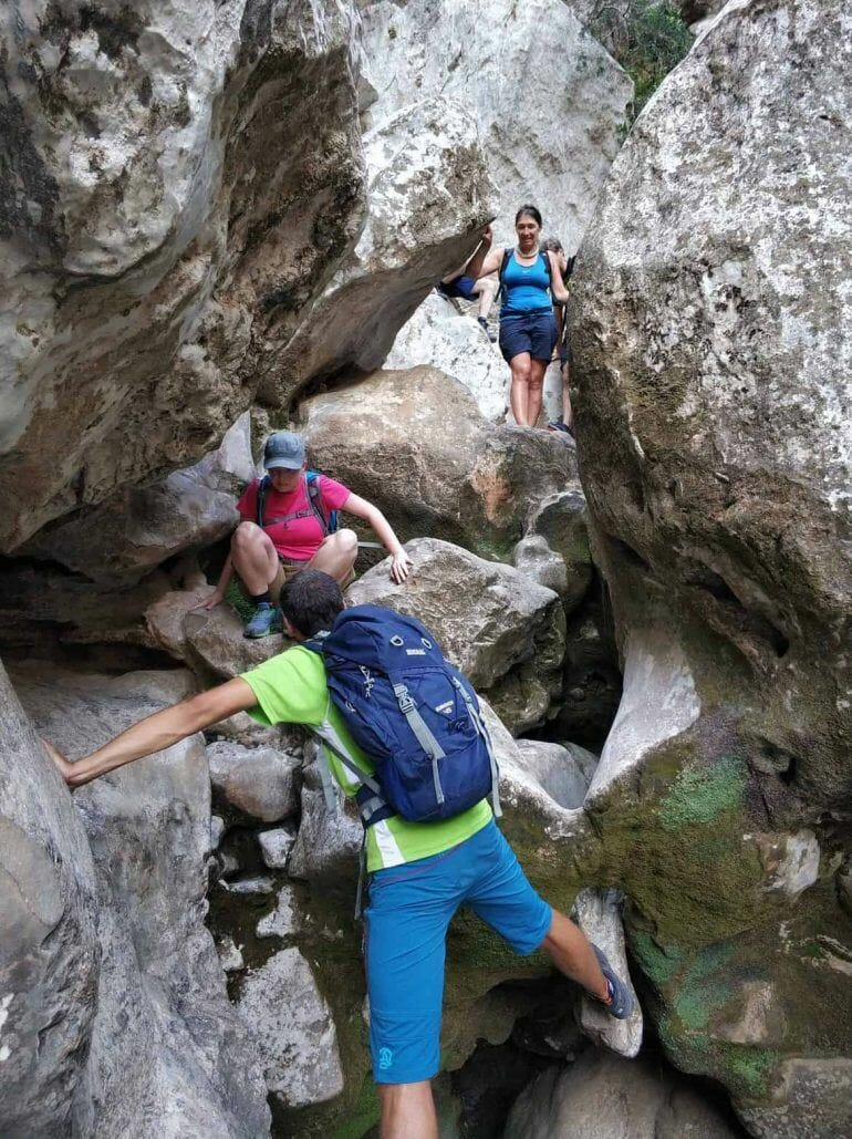 Trekking im Torrent de Parais auf Mallorca