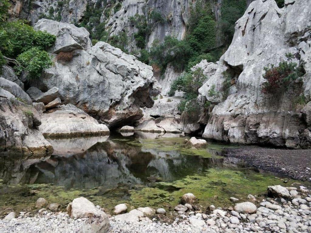 Wasser im Torrent de Pareis auf Mallorca
