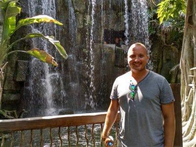 Stephan im Regenwald-Bereich des Aquarium in Palma Mallorca