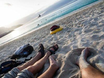 Chillen am Praia da Laginha Sao Vicente Kapverden