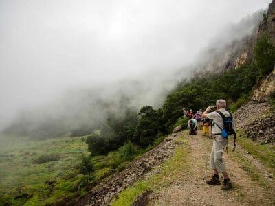 Nebel im Cova Krater auf Santo Antao Kapverden