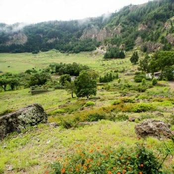 Im Cova Krater auf Santo Antao Kapverden