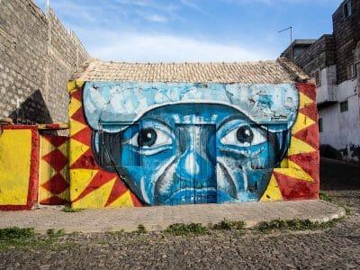 Street Art Ponta do Sol auf Santo Antao Kapverden