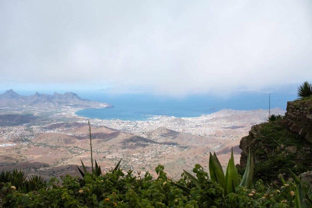 Blick vom Monte Verde auf Sao Vicente Kap Verden