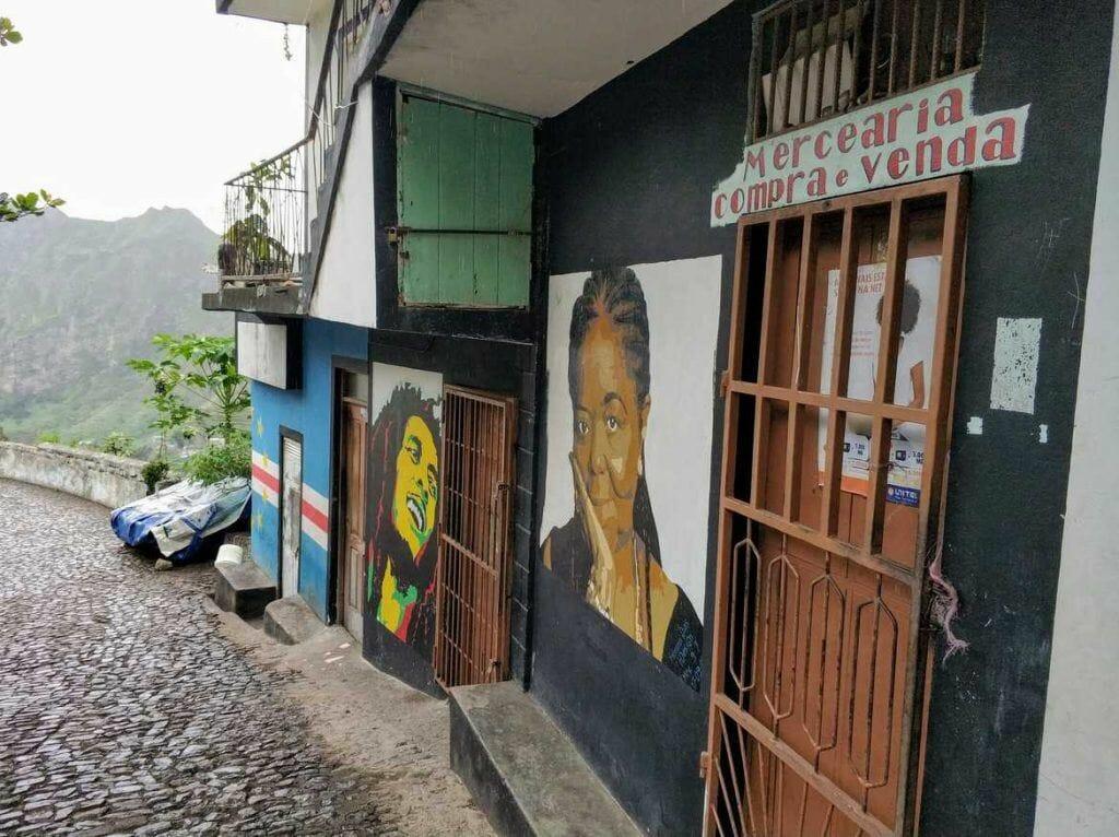 Wandmalerei im Paul Tal auf Santo Antao Kapverden