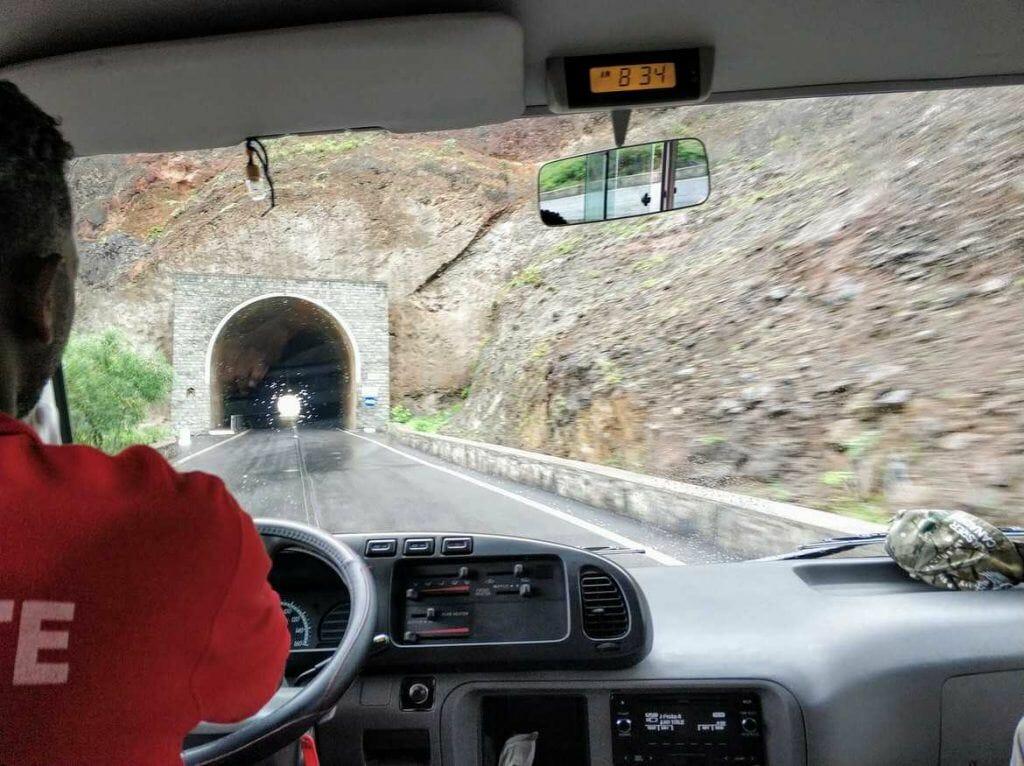 Tunnel auf Santo Antao Kapverden