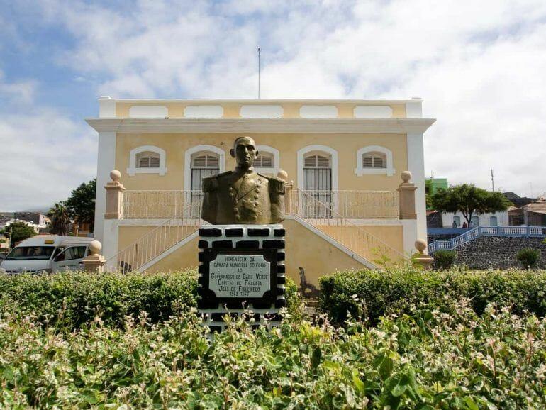 Kolonialbau auf Fogo Kapverden in Sao Filipe