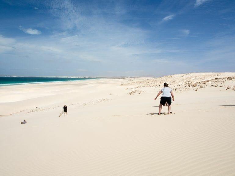 Sandboarden auf Boa Vista Kapverden