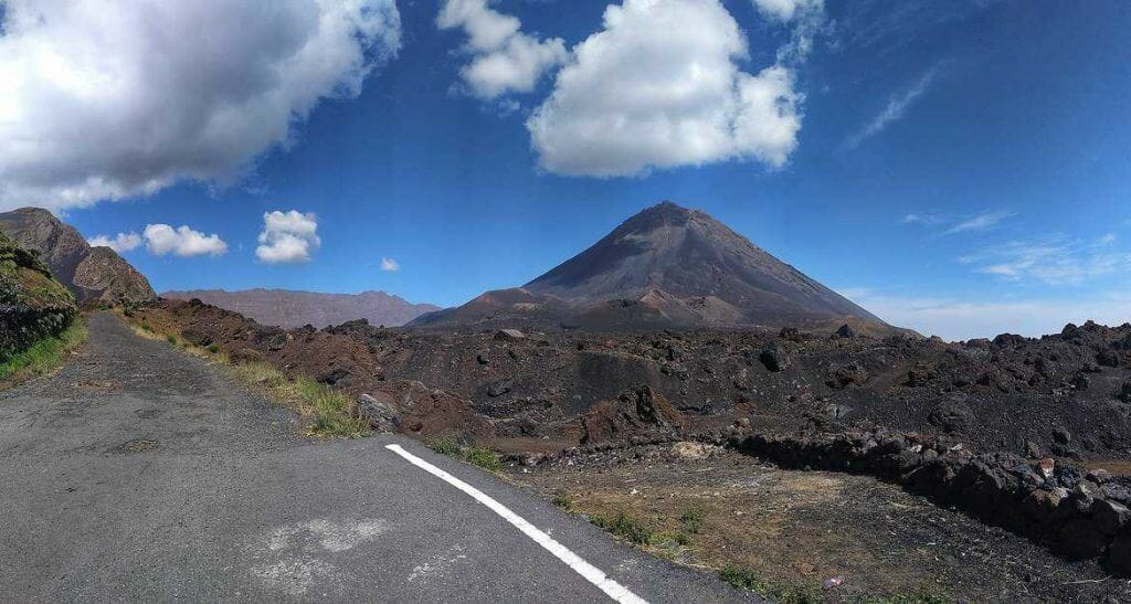 Blick auf den Pico Grande Fogo Kapverden