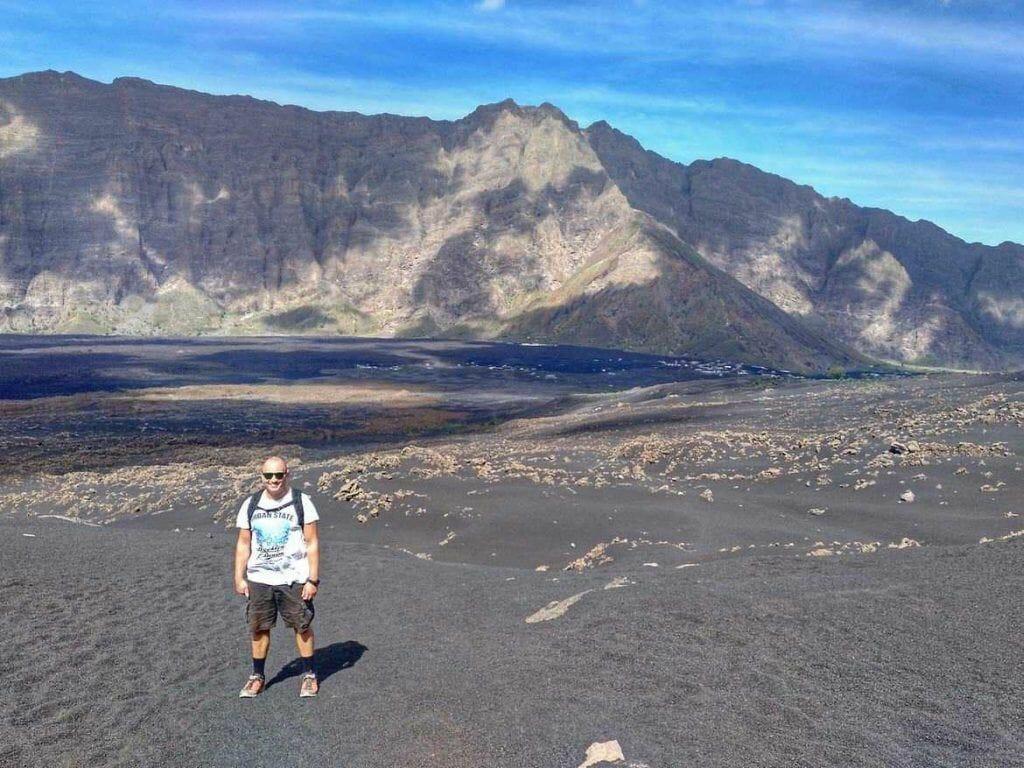 Stephan am Pico Grande auf Fogo Kapverden