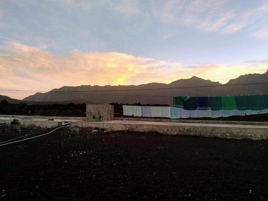 Sonnenuntergang am Pico Grande auf Fogo Kapverden