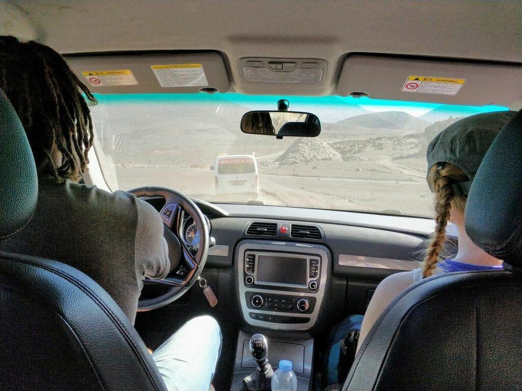 mit dem Pickup Richtung Sao Filipe auf Fogo Kapverden