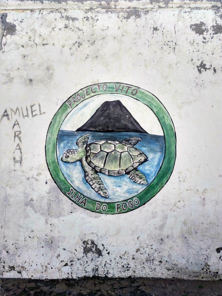 Street Art auf Fogo Kapverden