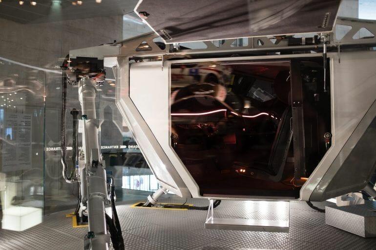 Fahrsimulator im Mercedes-Benz Museum Stuttgart