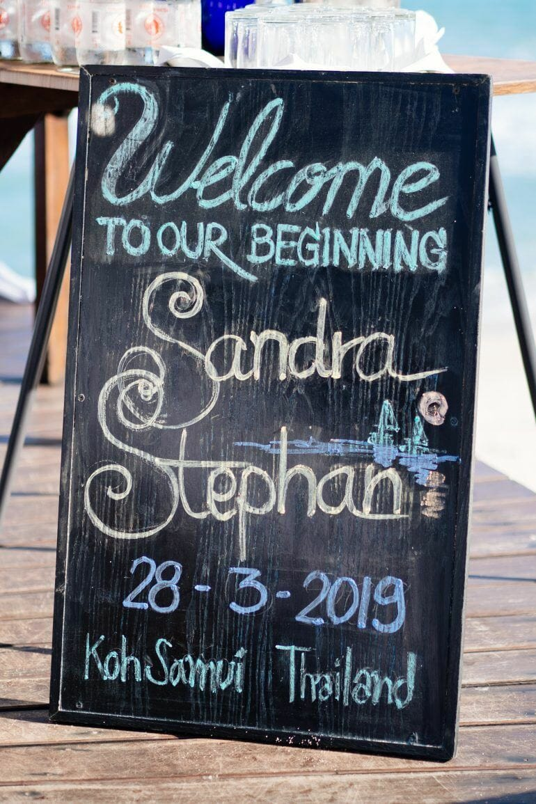 Welcome to our Wedding Schild