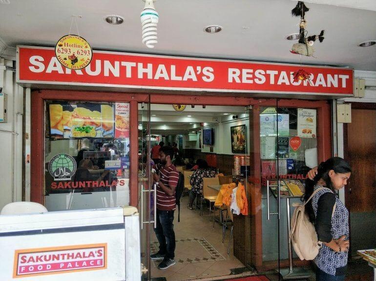 Sakunthala's Restaurant in Little India in Singapur