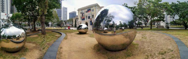 Panorama Foto Mirror Balls in Singapur