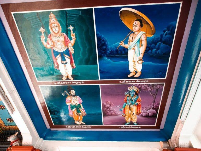 Reinkarnation Sri Mariamman Tempel Singapur