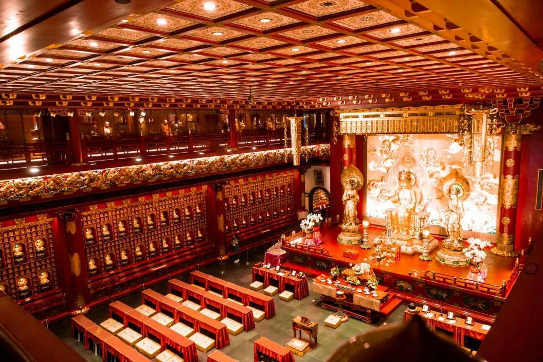 Buddha Tooth Relic Tempel Chinatown Singapur