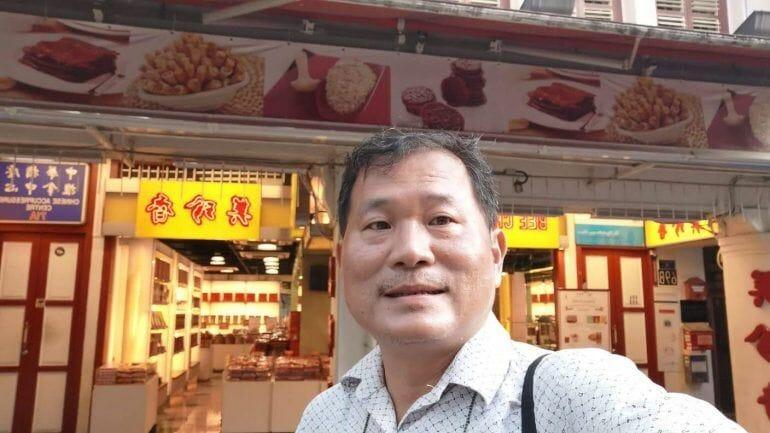 Selfie von HJ in Chinatown Singapur