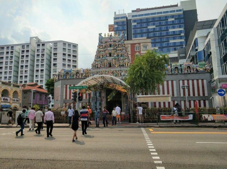 Hindi Tempel in Little India Singapur