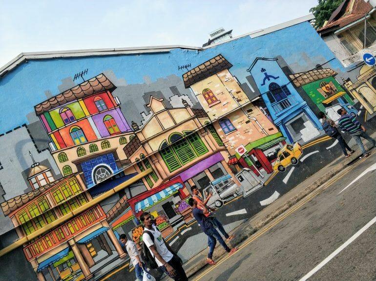 Street Art in Little India Singapur