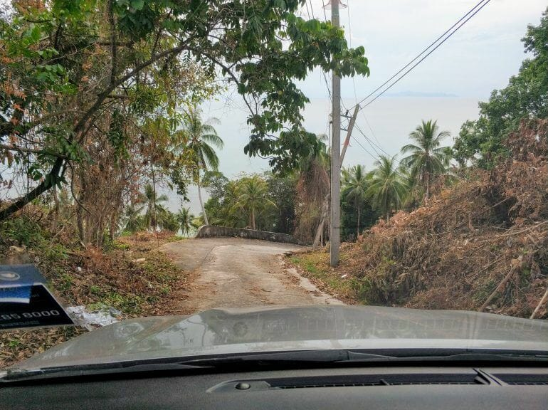 Anfahrt zum Taling Ngam View Point Koh Samui