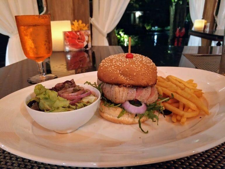 Thunfisch-Burger auf Koh Samui Thailand