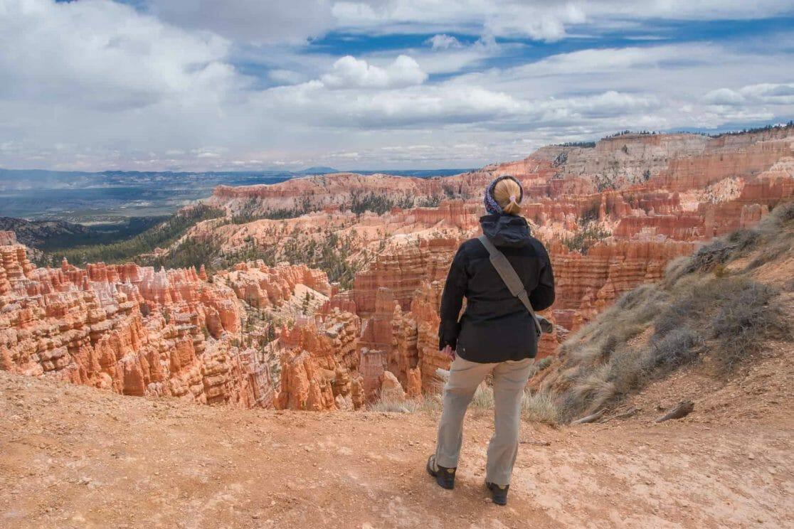Sandra im Bryce Canyon in den USA
