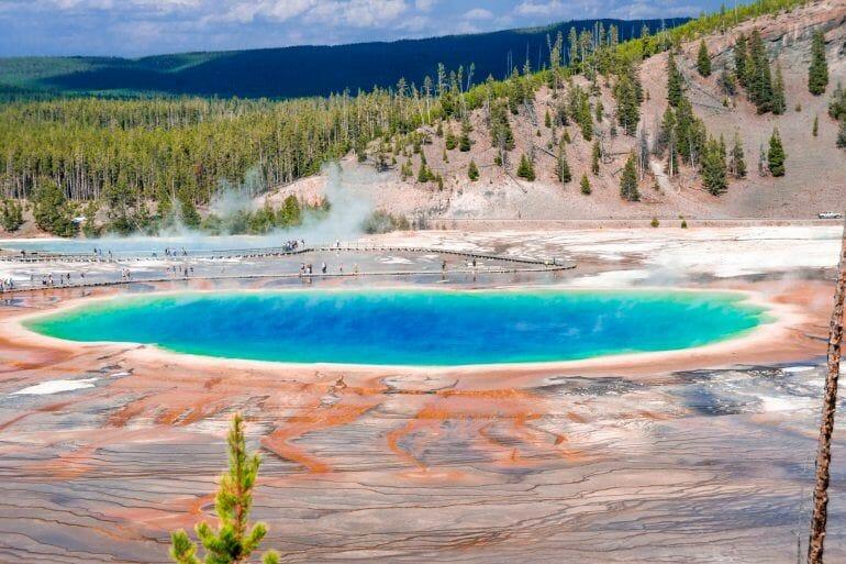 Grand Prasmatic Pool Yellowstone Nationalpark USA