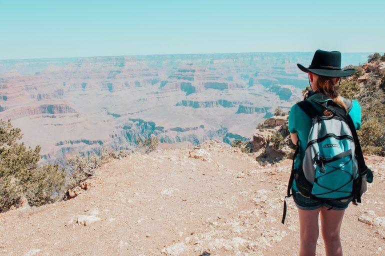 Sandra am Grand Canyon USA