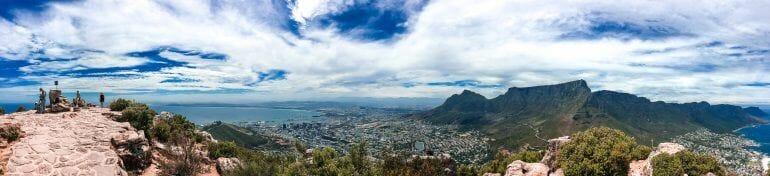 Panorama vom Lions Head Kapstadt Südafrika