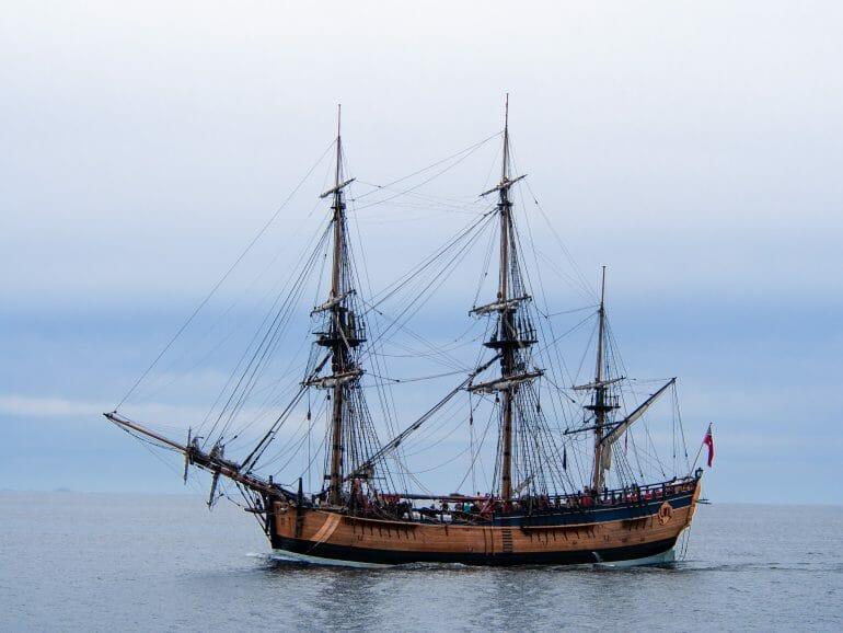 Segelschiff James Cook Bay of Islands Neuseeland