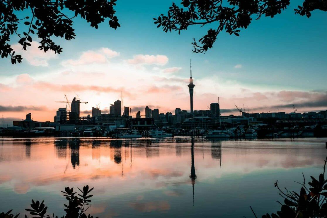 Sonnenaufgang Auckland