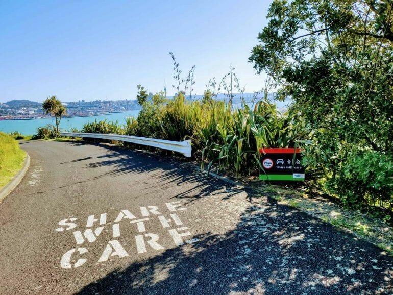 Straße zum Mount Victoria Auckland Neuseeland