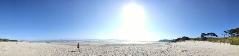 Panorama Pakiri Beach Neuseeland